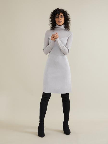 Комбинированное платье-мини - фото 2