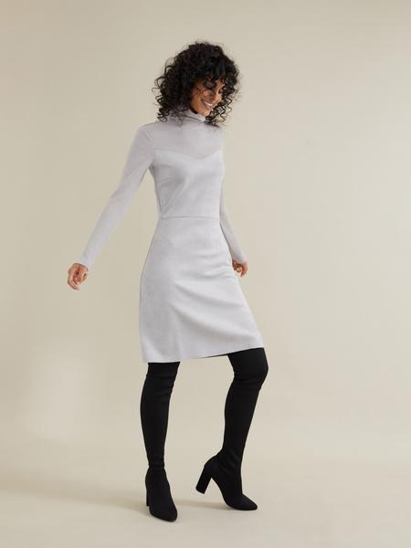 Комбинированное платье-мини - фото 3