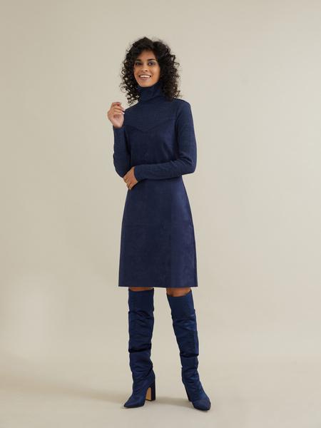 Комбинированное платье-мини - фото 5