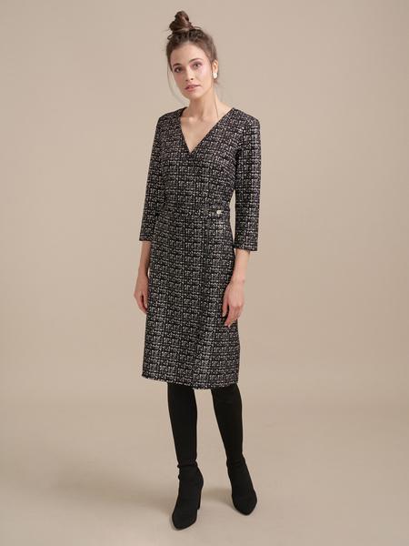 Фактурное платье на запахе - фото 5