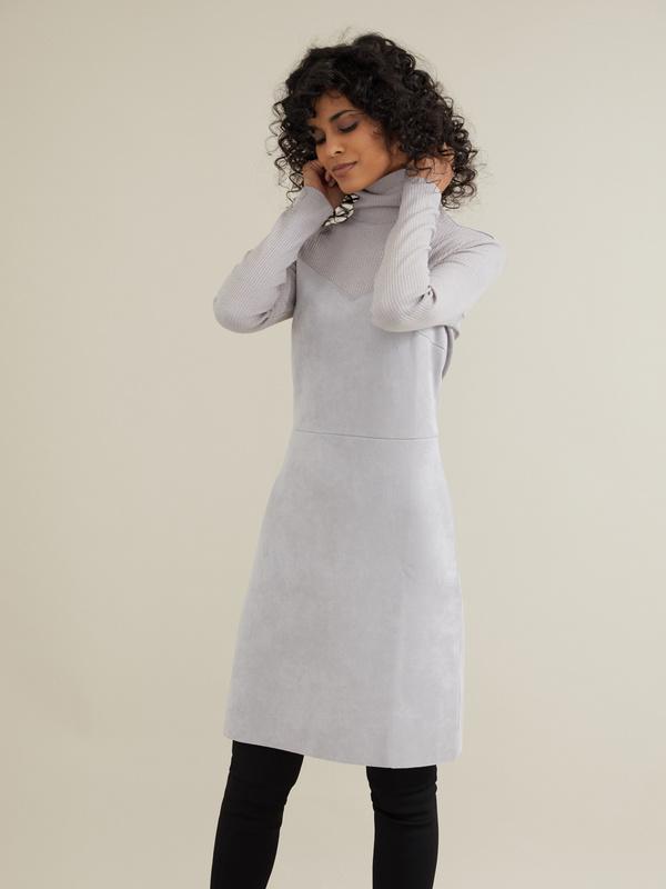 Комбинированное платье-мини - фото 1