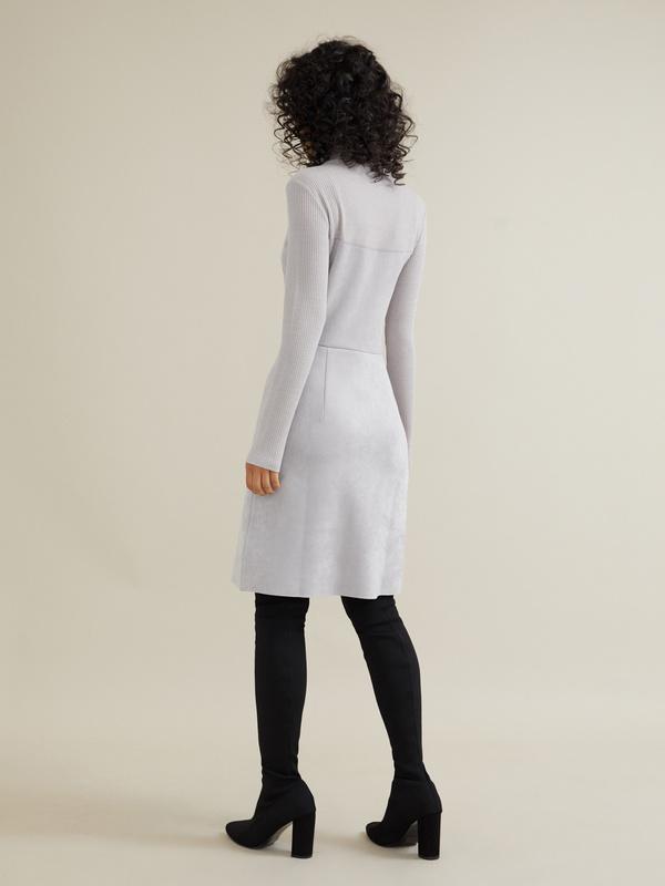 Комбинированное платье-мини - фото 4