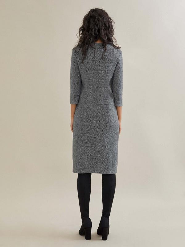 Платье-миди с принтом - фото 4