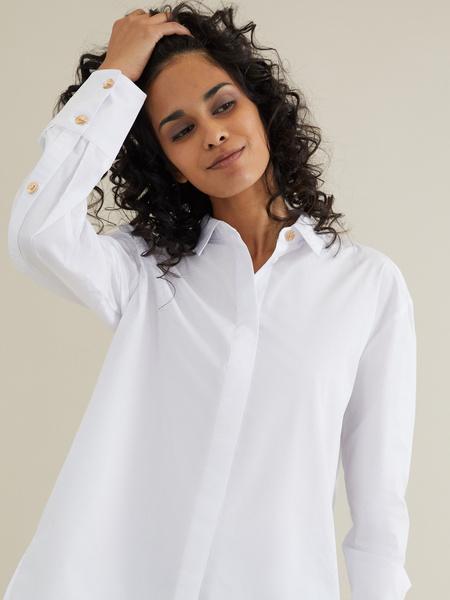 Рубашка с декоративными пуговицами - фото 2