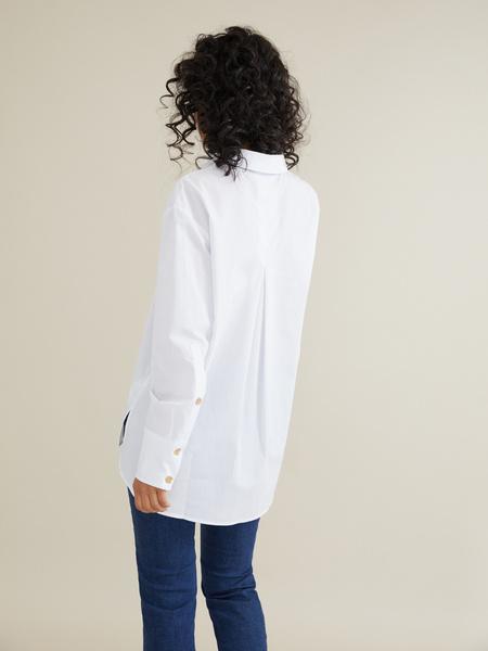 Рубашка с декоративными пуговицами - фото 4