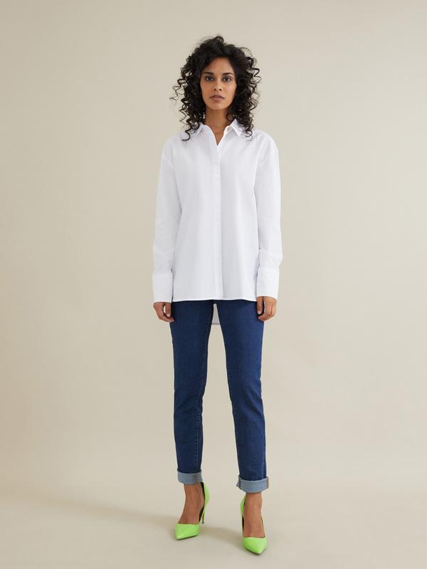 Рубашка с декоративными пуговицами - фото 1