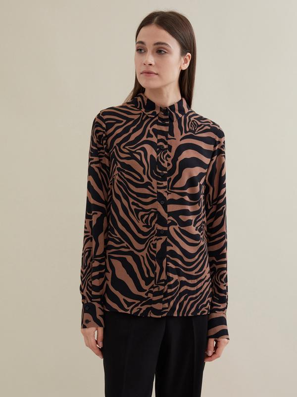 Блузка с анималистичным принтом 100 % вискоза - фото 4