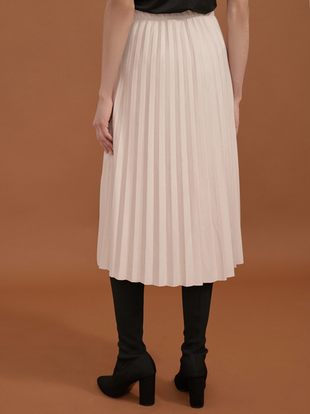 Плиссированная юбка имитация замша - фото 3