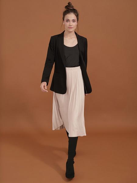 Плиссированная юбка имитация замша - фото 4