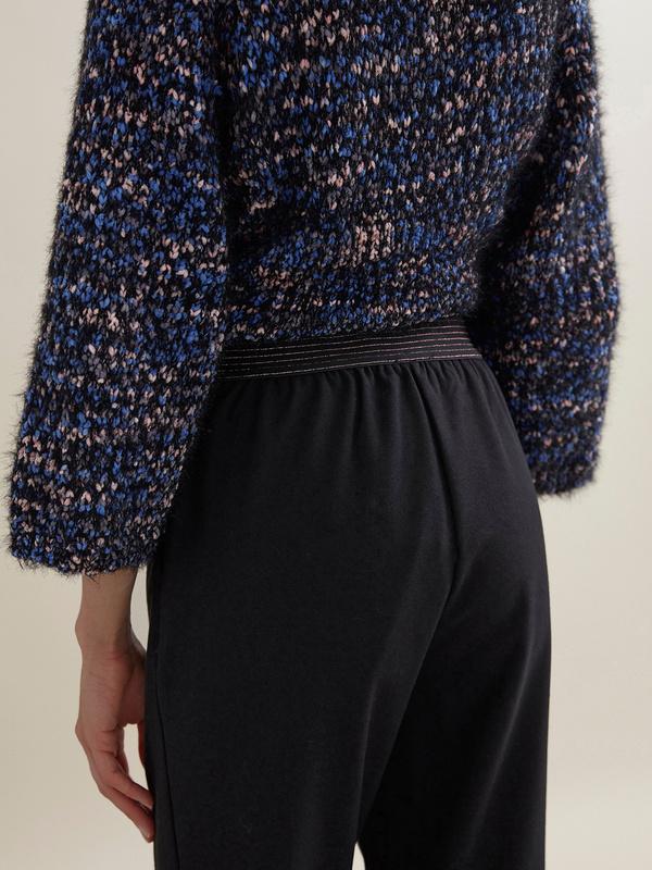 Зауженные брюки с эластичным поясом - фото 3