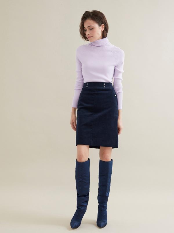 Вельветовая юбка-мини - фото 2
