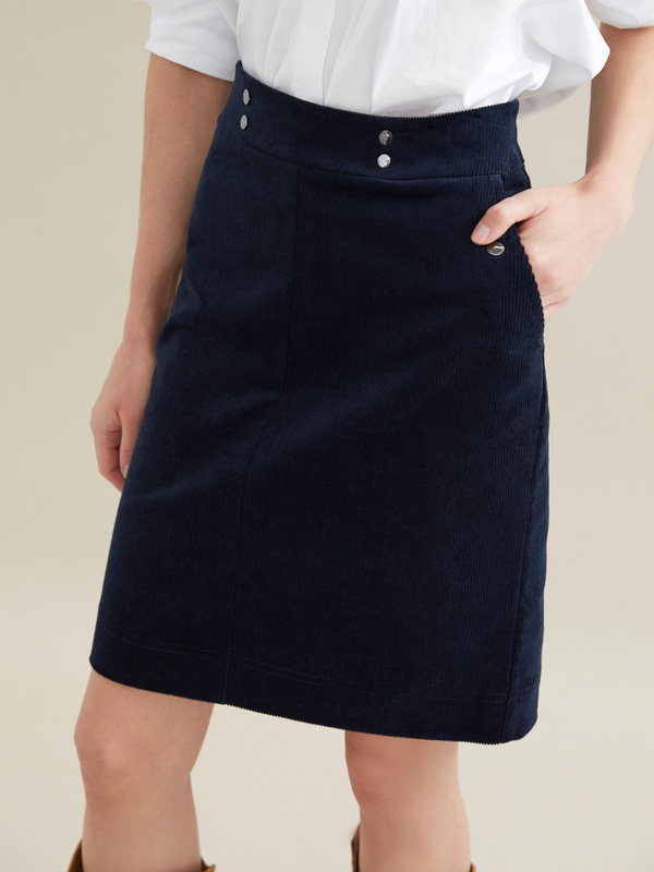 Вельветовая юбка-мини - фото 3