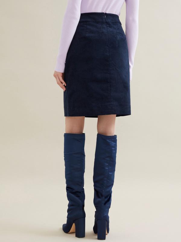 Вельветовая юбка-мини - фото 4