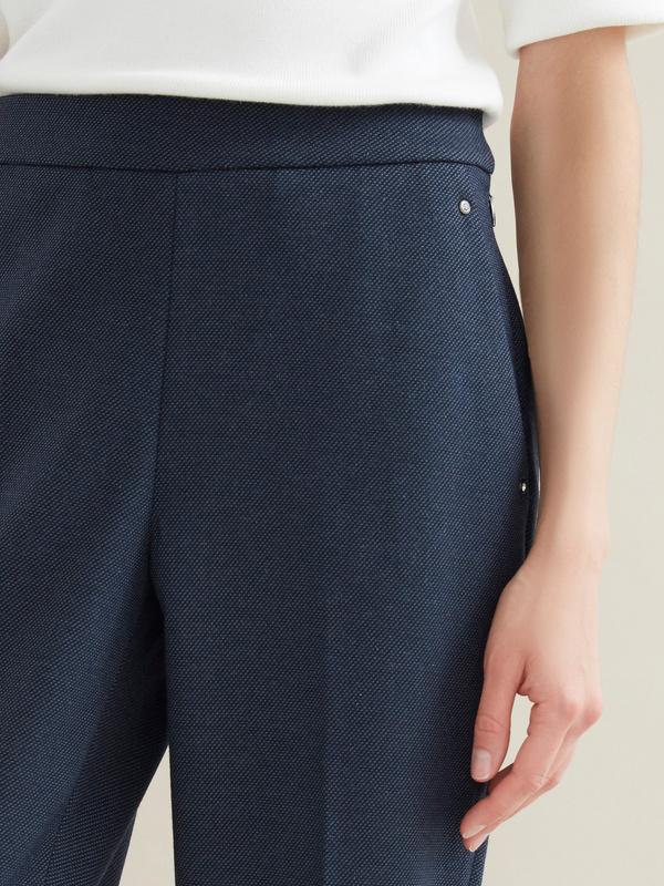 Зауженные брюки с отрезными карманами - фото 2