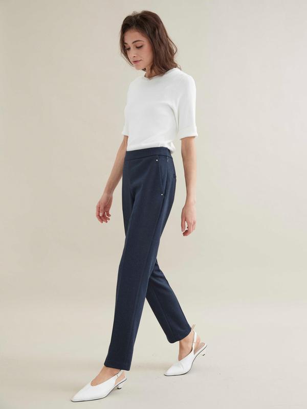 Зауженные брюки с отрезными карманами - фото 5