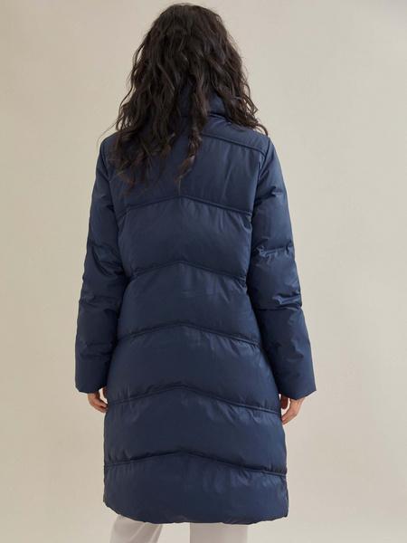 Стеганое пальто с ассиметричной застежкой - фото 4