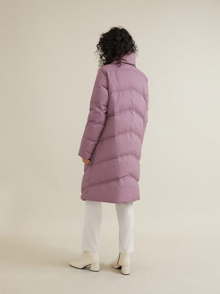 Стеганое пальто с ассиметричной застежкой - фото 6