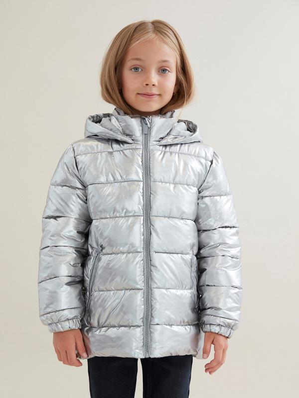Куртка для девочек металлик - фото 1