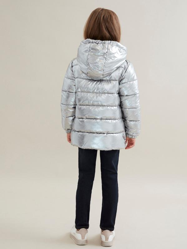 Куртка для девочек металлик - фото 4