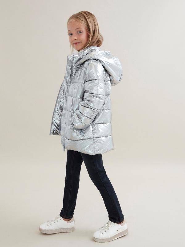 Куртка для девочек металлик - фото 5