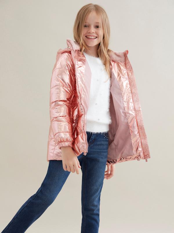 Куртка для девочек металлик - фото 3
