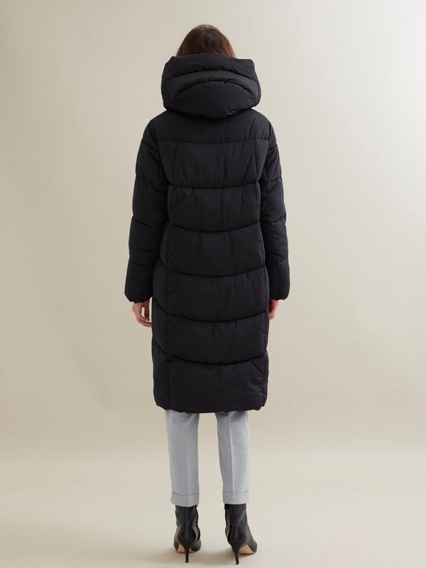 Стеганое пальто с капюшоном - фото 5
