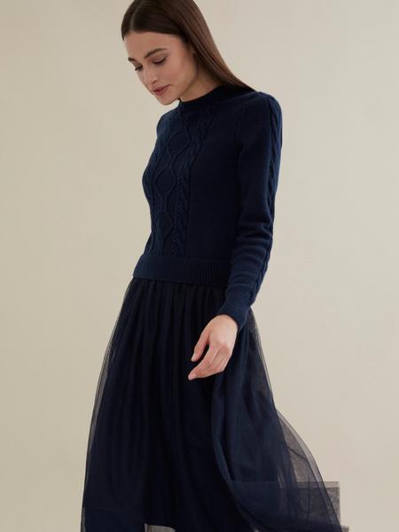 Комбинированное платье с юбкой из фатина - фото 3