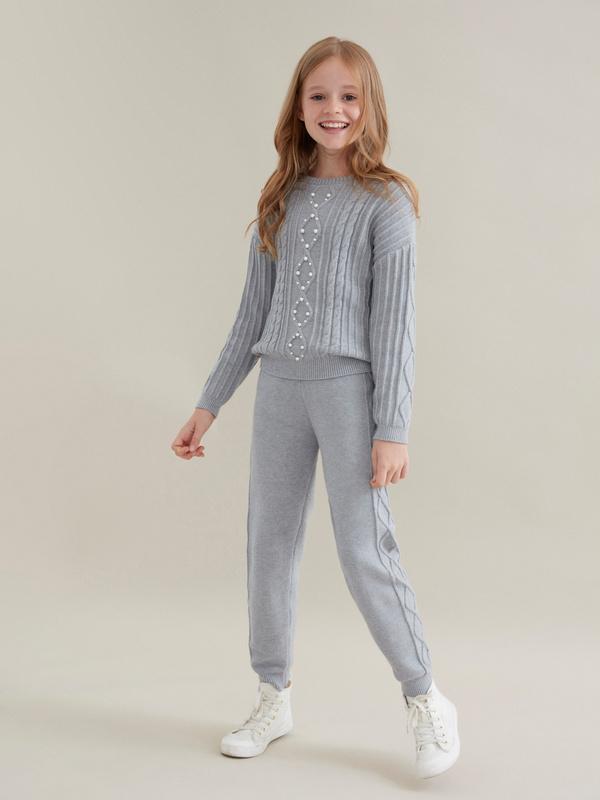 Трикотажные брюки для девочек - фото 5