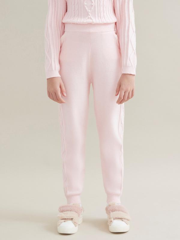 Трикотажные брюки для девочек - фото 1
