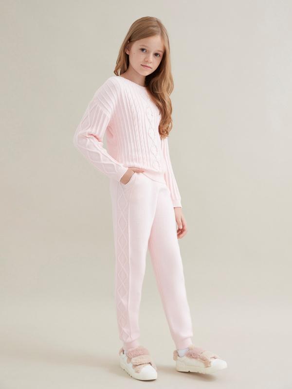 Трикотажные брюки для девочек - фото 2