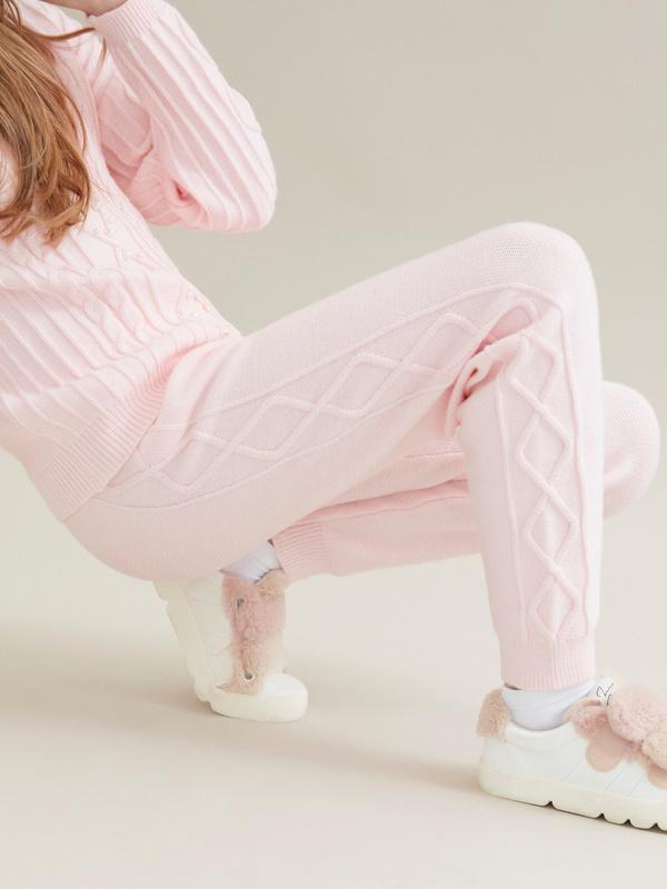 Трикотажные брюки для девочек - фото 3