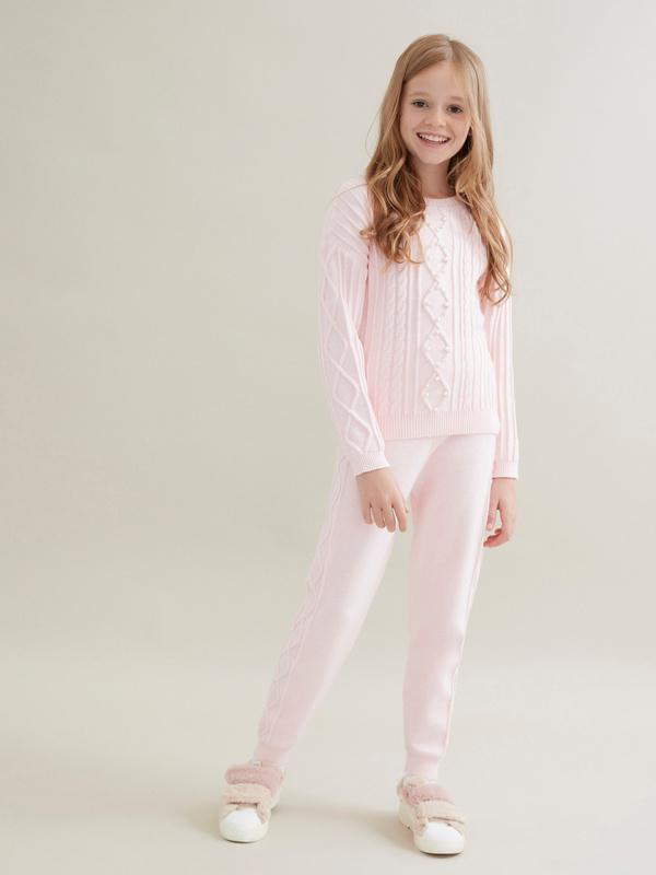 Трикотажные брюки для девочек - фото 6