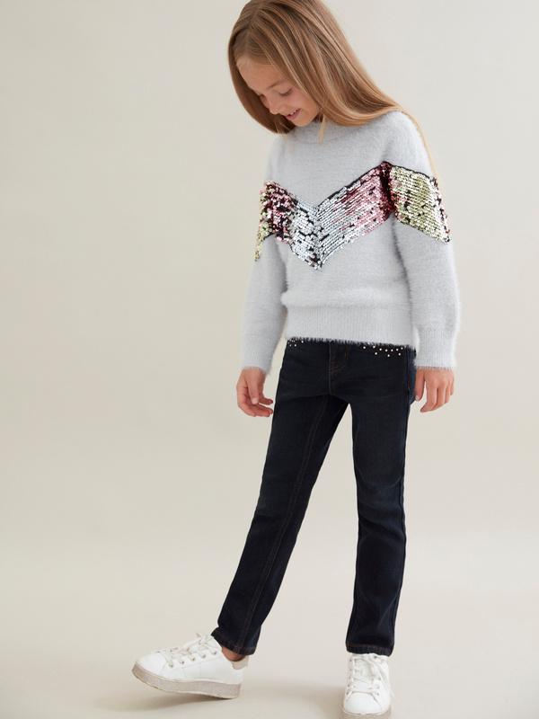 Комбинированный джемпер для девочек - фото 4