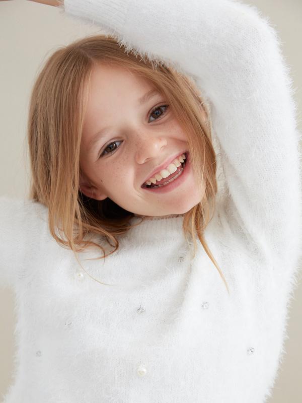 Джемпер для девочек с бусинами - фото 3