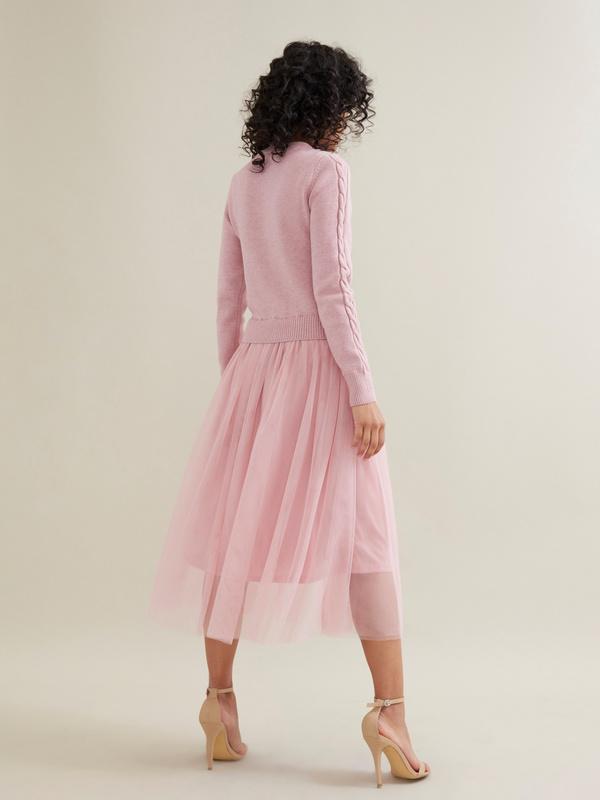 Комбинированное платье с юбкой из фатина - фото 5