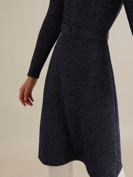 Платье-миди с люрексом - фото 3