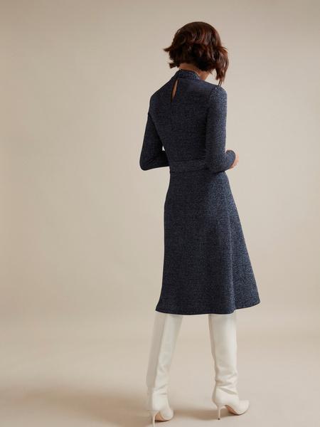 Платье-миди с люрексом - фото 4