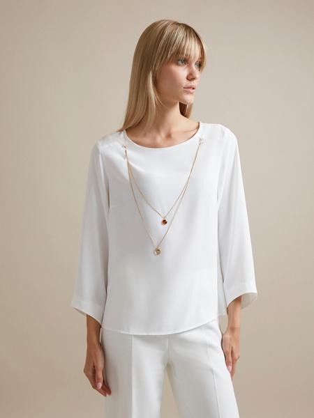 Блузка с цепочкой и рукавами клеш - фото 1