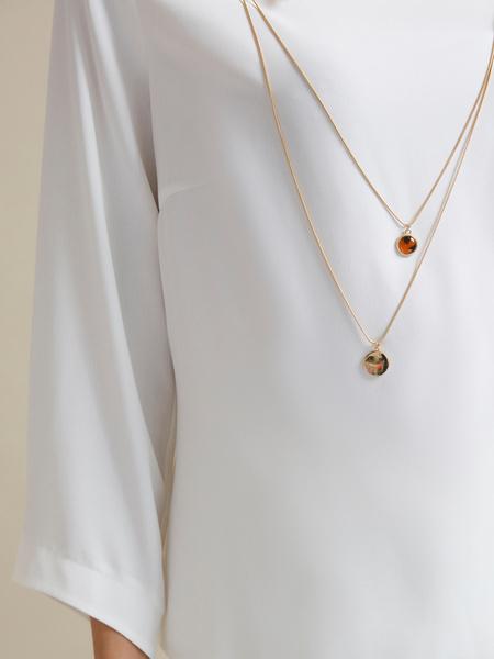 Блузка с цепочкой и рукавами клеш - фото 2