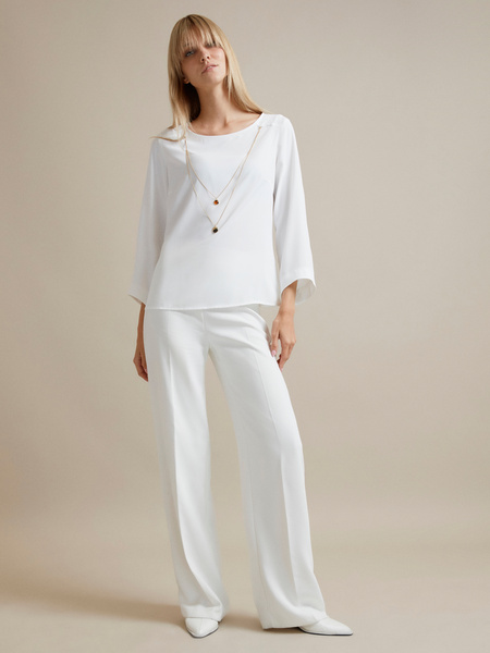Блузка с цепочкой и рукавами клеш - фото 5