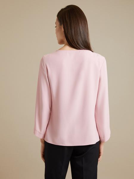 Блузка с цепочкой и рукавами клеш - фото 3