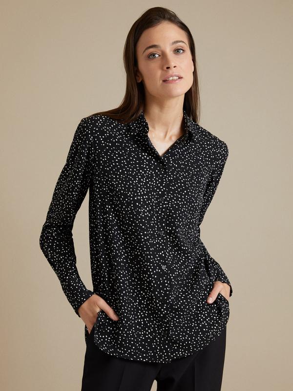 Блузка в крапинку - фото 1