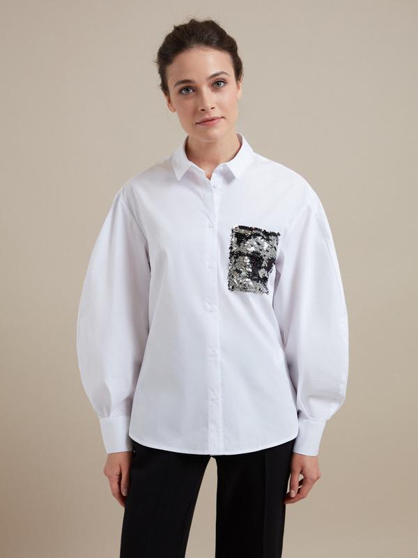 Блузка с пайетками - фото 1