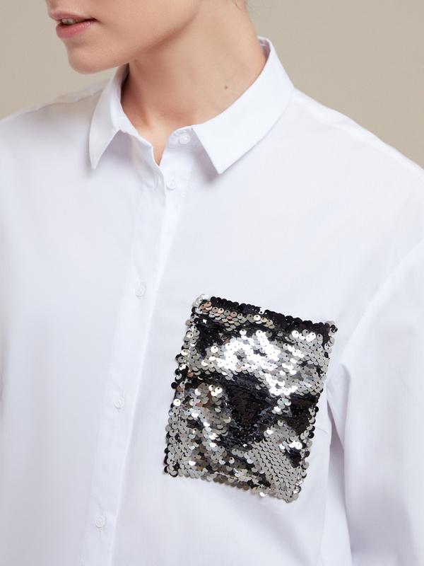 Блузка с пайетками - фото 2