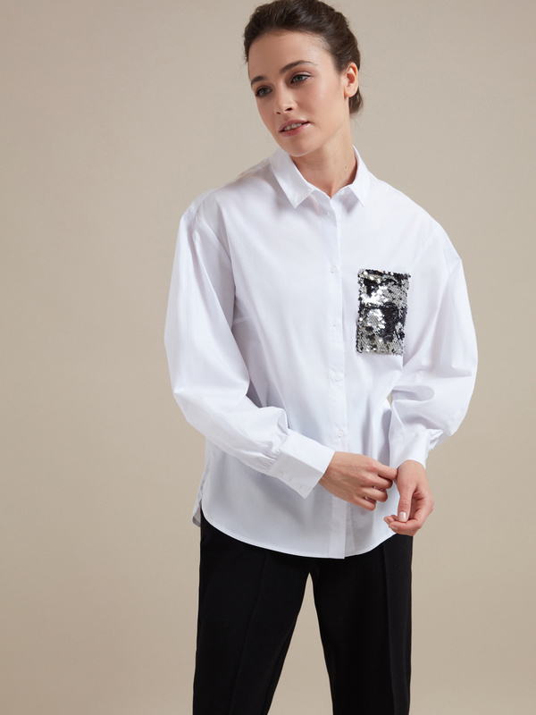 Блузка с пайетками - фото 3
