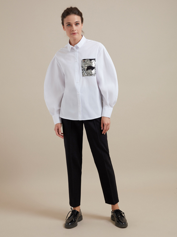 Блузка с пайетками - фото 5