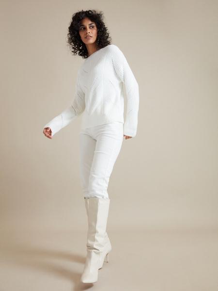 Джемпер ажурной вязки - фото 5