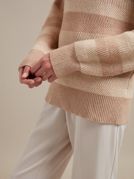 Джемпер в полоску с рукавами-фонариками - фото 2