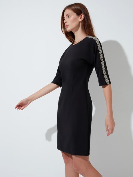 Платье-футляр с пайетками - фото 3