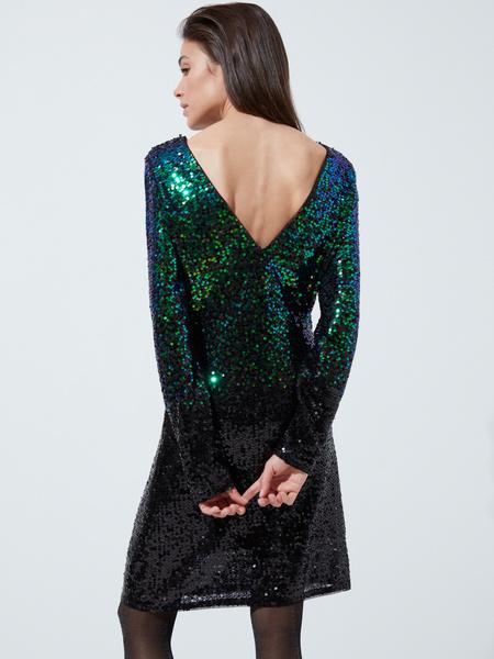 Платье с пайетками градиент - фото 3